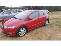 Honda civic ex i-vtec auto 2009 petrol FSH mot leather cheap car Kent bargain only 52000 miles