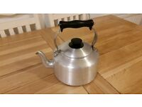 Vintage aluminium stove top metal kettle, Agaluxe, 4 pints 3.5 litres, Aga Rayburn Range, stovetop