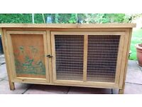 Wooden rabbit and guinea pig hutch