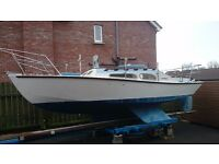 BALLERINA 21'6 SAILING YACHT 3 BERTH LOVELY CONDITION,ROAD TRAILER ONLY £2250