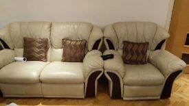 3 SEATER 2 SEATER 1 ARMCHAIR AND CUSHION STOOL - COLLECTION ONLY MUST GO SOON!