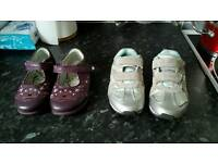 Start rite shoes 7.5g and clarks trainer 8g