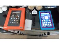 Amazon Fire 7' tablet, with screen protector and cover/case
