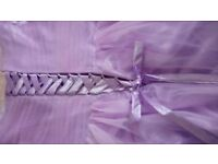 Beatiful Lilac Gwn with Silk Ribbon Back Detail Size 16-18