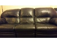 Reclinging 3&2 seater leather couches