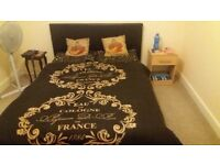 Double bed with headboard in very good co dition. Just over a year old