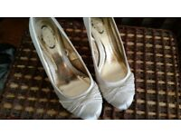 satin wedding shoe