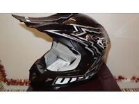 wulfsport motocross motox quad helmet youth junior kids size l in black