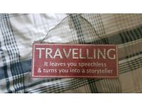 Cute travel sign