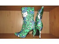 Brand New Gorgeous Colorful Ankle Boots Size 7 (40) - Collection Only