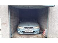 Single lock up garage with up and over door for sale in St George £12,000