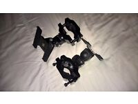 Positionable Adjustable chair clamps for HOTAS Elite Flight Simulator