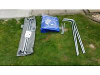 Brenderup 1150s car trailer new 80cm high cover.
