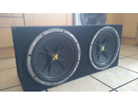 "12"" Kicker Comp Subwoofers & Sealed Box Full Working Order £100 OVNO"