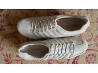 Ladies Beige/Gold/Silver Skechers Size 8 Ex. Condition - as New