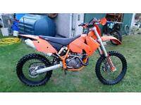 KTM exec 450 ,£1200 reposted due to time waters