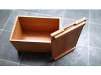 Used Bambo wooden bread bin box