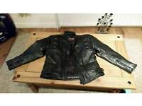 Female leather bike jacket