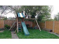Outdoor Play Swing Slide Set