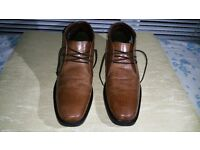 Mens Real Leather Halifax Chukka Shoes Tan uk Size 9 EU 43
