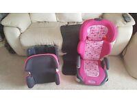 Graco Junior maxi sweetie child car seat + extras.