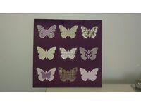 Purple butterfly canvas