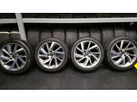 Citroen Genuine 17 alloy wheels + 4 x tyres 205 45 17