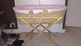 **Moses Basket & Stand For Sale**