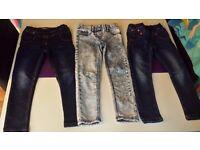 ☆ NEXT Girls Jeans bundle 4-5 years ☆