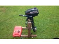 evinrude 4hp twin outboard engine