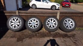 "BMW OEM style 177 X5 winter wheels and tyres set, 18"" suit models E53, E70"