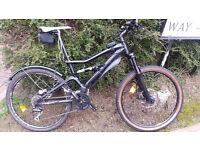 "MTG GT Sensor 4, Full suspension 26"" XC mountain Bike"