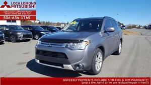 2015 Mitsubishi Outlander SE AWC TOURING 4WD ONLY $200 BW!