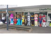 lots of mascot costumes from £20 each. in derby