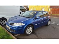2006 RENAULT MEGANE. TOP SPEC. 1.5DCI £30 TAX FOR A YEAR. 55+mpg not scenic clio corolla 207 307