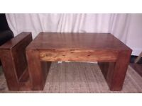 Beautiful & unique, solid wood coffee table
