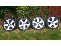 18 Inch Audi RS6 alloy wheels 5x100, also fits, vw, seat, skoda and with spacers will fit Ford,volvo