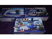 Set 3 police building blocks
