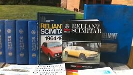 RELIANT SCIMITAR MANUALS & CLUB MAGAZINES ETC.