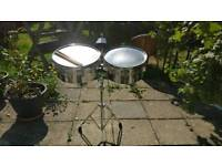 Timbale Drum Set with Stand, Cowbell and Sticks