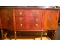 old fashioned sideboard on legs curved shaped cutlery drawer see photo