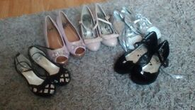 5 pairs of girls shoes