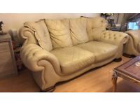 Cream new vintage sofas
