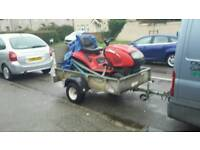 Ride on mower lawn flite 904 & ifor williams trailer all good working order