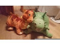 dinosaur hopper with large dinosaur soft toy