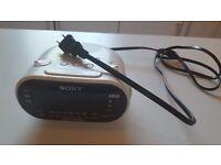 Sony ICF-C318 Automatic Time Set Clock Radio with Dual Alarm - US plug