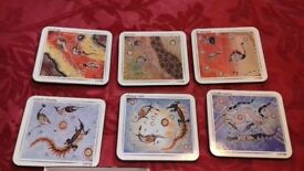 Table Coasters ~ Genuine Australian Aboriginal Gallery Artworks Durable Coasters