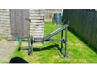 Weight training bench & weights