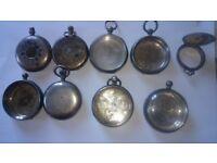 Antique nine Silver pocket watches