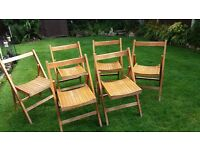 6 Retro wooden chairs